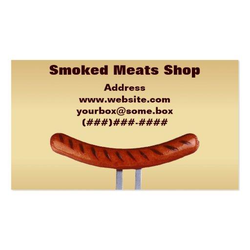 Loja de carnes fumado modelo cartão de visita
