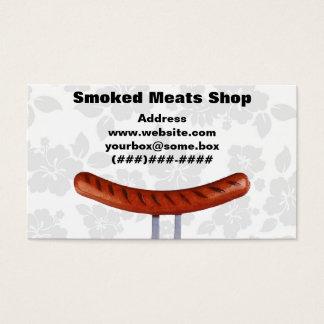 Loja de carnes fumado cartão de visitas