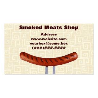 Loja de carnes fumado cartões de visitas