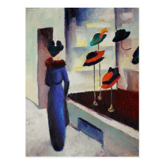 Loja de chapéu - August Macke Cartão Postal
