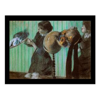 Loja de chapéu de Edgar Degas Cartoes Postais