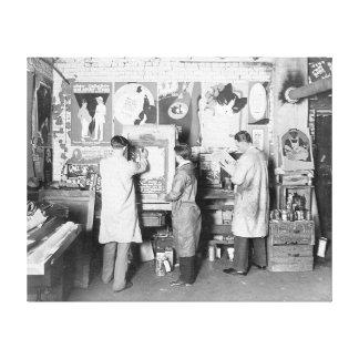 Loja de cópias 1921 impressão de canvas esticada
