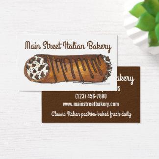 Loja de pastelaria italiana da padaria de Cannoli Cartão De Visitas