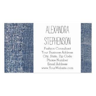 Loja de roupa gasta da forma de jeans da sarja de cartão de visita