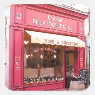 Loja de vinho de Provence Adesivo Quadrado