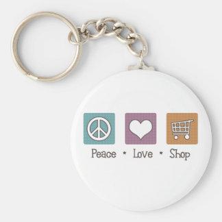 Loja do amor da paz chaveiro