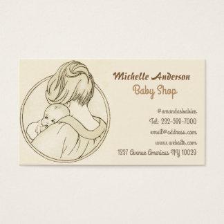 Loja do bebê e cuidado do bebê cartão de visitas