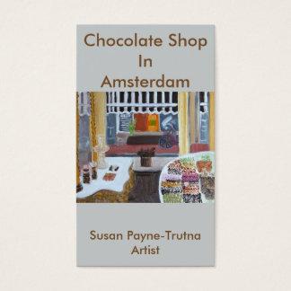 Loja do chocolate no cartão de visita de Amsterdão