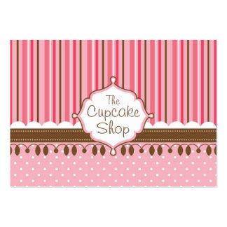 Loja do cupcake carnudo cartão de visita grande