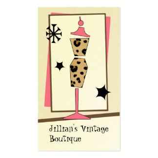 Loja do vintage/boutique - formulário do vestido d modelo cartao de visita