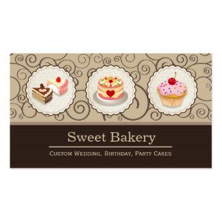 Loja doce da padaria - cupcake feito sob encomenda cartão de visita