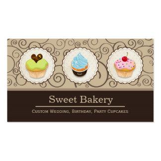 Loja doce da padaria - cupcakes feitos sob cartão de visita
