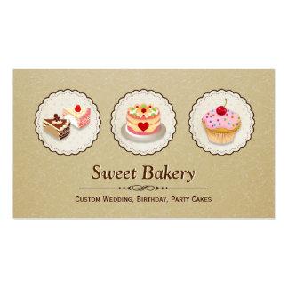 Loja doce da padaria - o costume endurece o cartão de visita