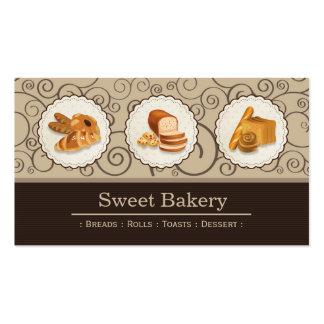 Loja doce da padaria - os pães Rolls brindam a Cartão De Visita