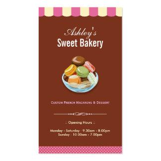 Loja doce da padaria - pastelarias de Macarons dos Cartão De Visita