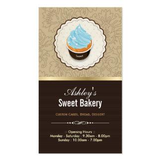Loja doce da padaria - sobremesa dos chocolates do cartao de visita