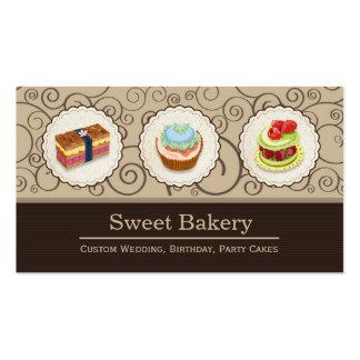 Loja doce da padaria - tortas feitas sob encomenda cartões de visitas