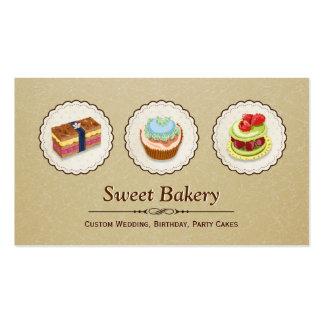 Loja doce da padaria - tortas feitas sob encomenda cartoes de visitas