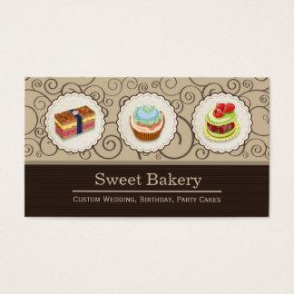 Loja doce da padaria - tortas feitas sob encomenda cartão de visitas
