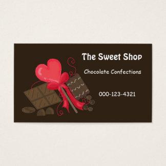 Loja doce do chocolate cartão de visitas