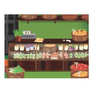 Loja dos Greengrocers Cartão Postal