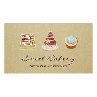 Loja feita sob encomenda da padaria do chocolate cartão de visita