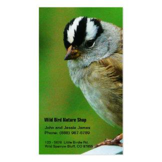 Loja selvagem da natureza do pássaro - loja do Bir Cartao De Visita