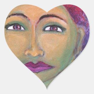 Lola feminino divino adesivo coração