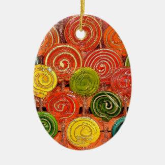 Loli Ornamento De Cerâmica Oval