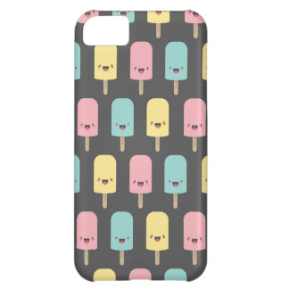 Lollies de gelo felizes de Kawaii do divertimento Capa Para iPhone 5C