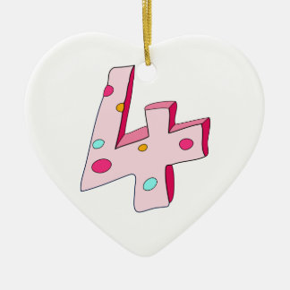 Lolly cor-de-rosa ornamento do coração de 4