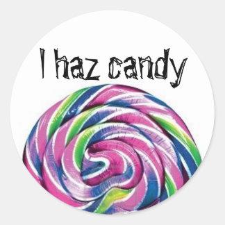 Lolly doces do haz de I Adesivos Em Formato Redondos