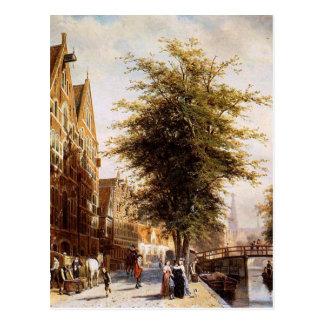 Lombard Voorburgwal Amsterdão por Cornelis Cartão Postal