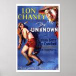Lon Chaney Joana Crawford o anúncio desconhecido Posteres