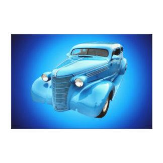Lona clássica da parede do carro impressão de canvas esticada