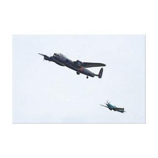 Lona da cabeça-quente do bombardeiro de Lancaster  Impressão Em Tela