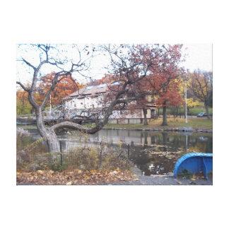 Lona da lagoa do parque de Van Cortland Impressão Em Tela