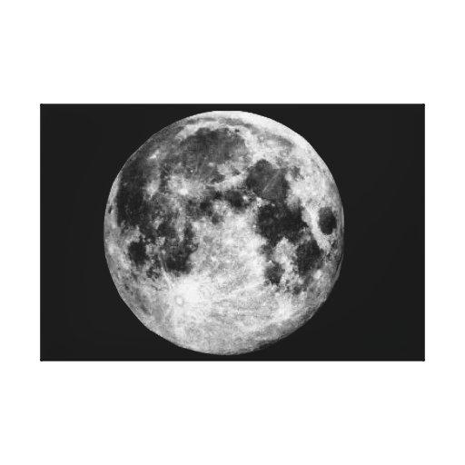 Lona da parede da Lua cheia Impressão De Canvas Envolvidas