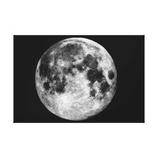 Lona da parede da Lua cheia Impressão Em Tela