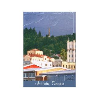 Lona envolvida Astoria Oregon Impressão De Canvas Envolvidas