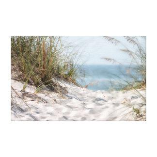 Lona envolvida cena da praia impressão em tela