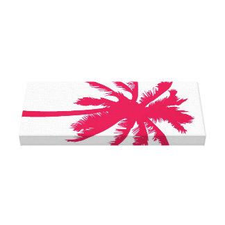 Lona envolvida da palma treeon vermelho impressão em tela