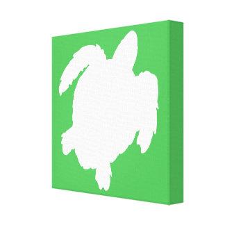 Lona envolvida galeria da silhueta da tartaruga de impressão em canvas