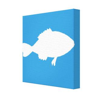 Lona envolvida galeria da silhueta dos peixes impressão de canvas esticadas