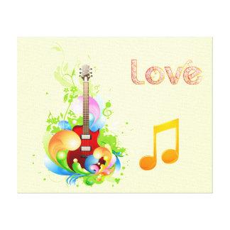 Lona esticada guitarra