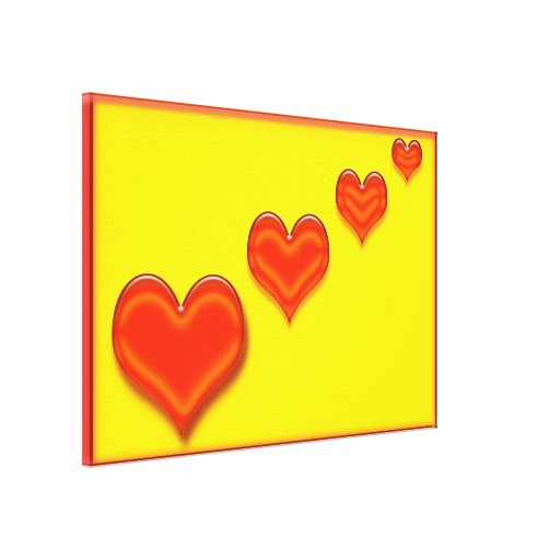 Lona feliz dos corações impressão em canvas