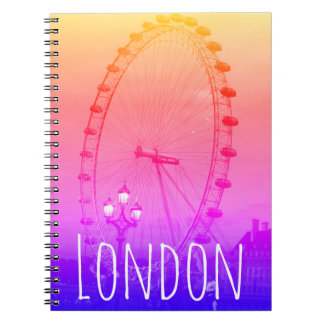 Londres colorida, caderno com olho de Londres