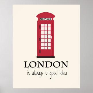 Londres é sempre uma boa ideia pôster