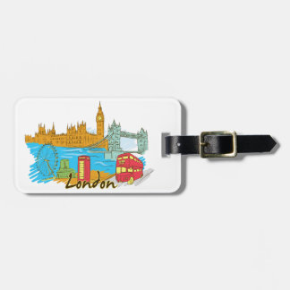 Londres Inglaterra Etiqueta De Bagagem