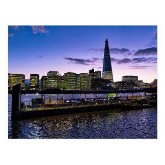 Londres no cartão do crepúsculo
